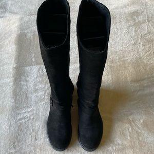 Lorenzo Mari suede black knee boots
